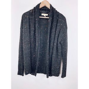 UO Staring at Stars Black Color Speckled Cardigan
